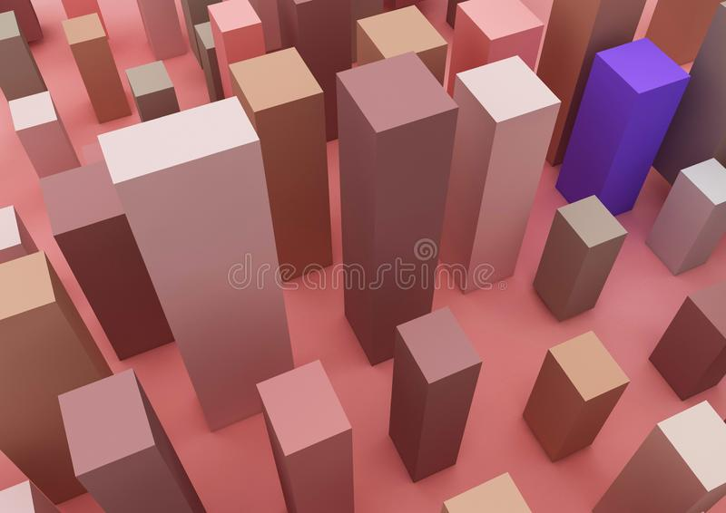 The 3d picture about infographic and business and building vector illustration