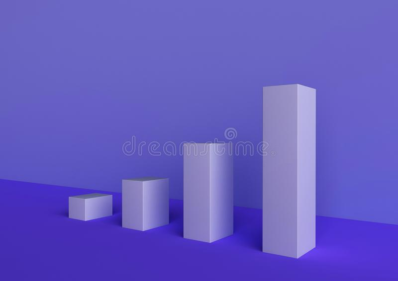 The 3d picture about infographic. Economy and business royalty free illustration