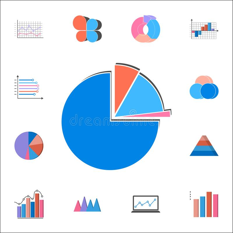 3D pie chart icon. Detailed set of Charts & Diagramms icons. Premium quality graphic design sign. One of the collection icons for. 3D pie chart icon. Detailed stock illustration