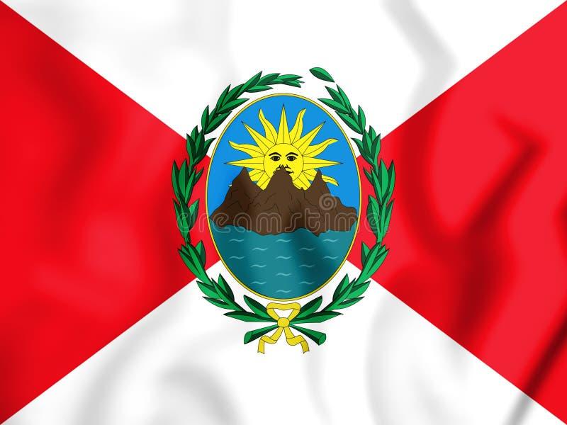3D Pierwszy republikanina flaga Peru 1821-1822 ilustracji