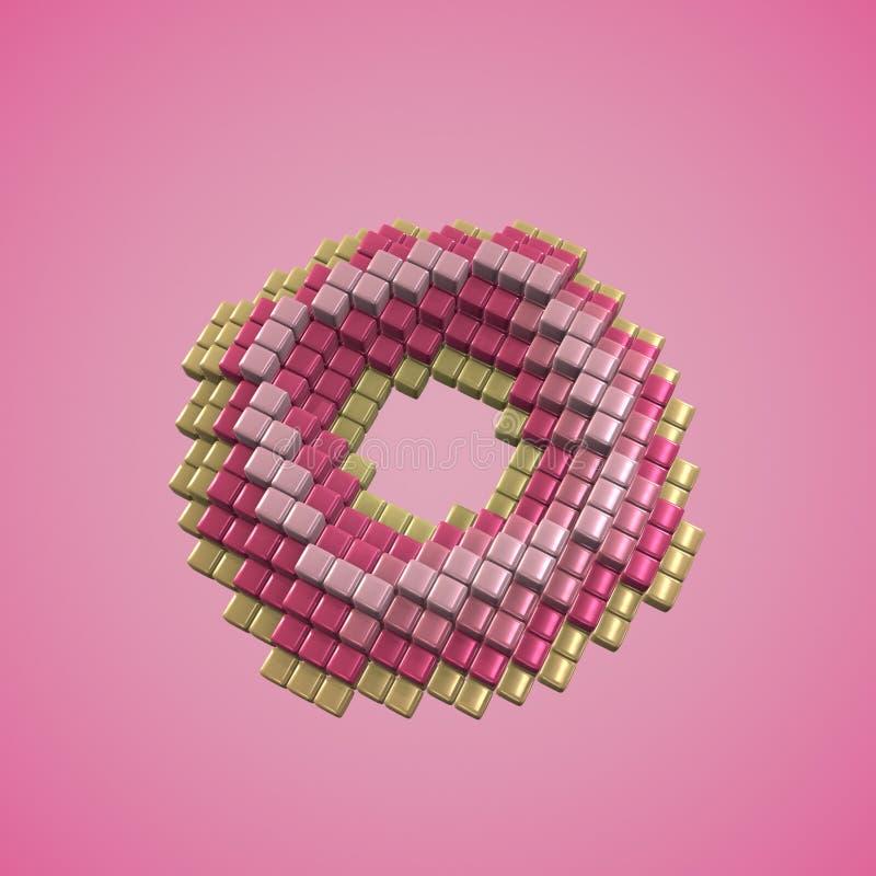 3D piksla sztuki pączek fotografia stock