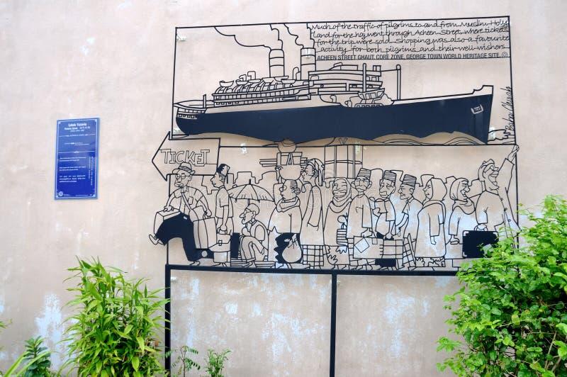 """ d'""""Pilgrim†d'art de rue de Penang images stock"""
