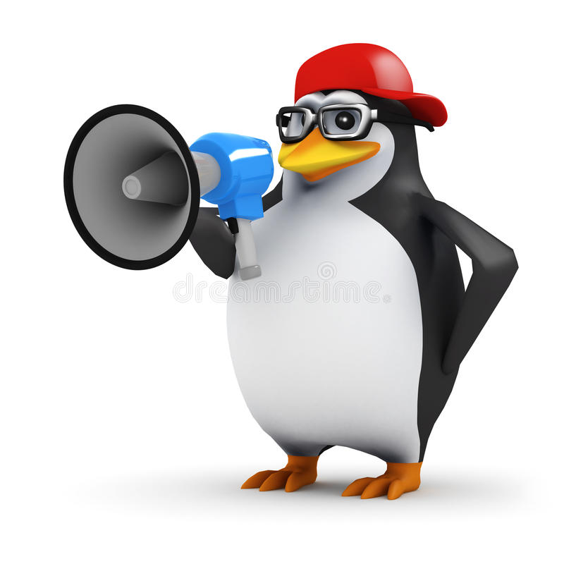 3d Pinguïnomroeper vector illustratie