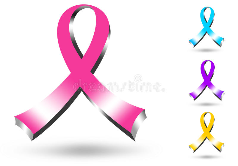 3d pink ribbon stock illustration illustration of black 40663359 rh dreamstime com  pink ribbon logo clip art