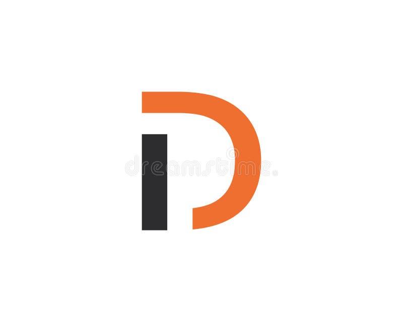 D pisze list logo ikony szablonu ikony wektorową ilustrację ilustracja wektor