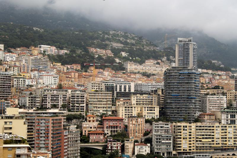 D?placement au Monaco - fran?ais - c?te azur?e images stock