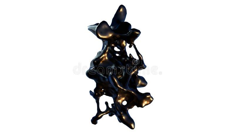 3d plons van zwarte vloeistof zoals olie, geeft computer geproduceerde achtergrond voor creatief terug vector illustratie