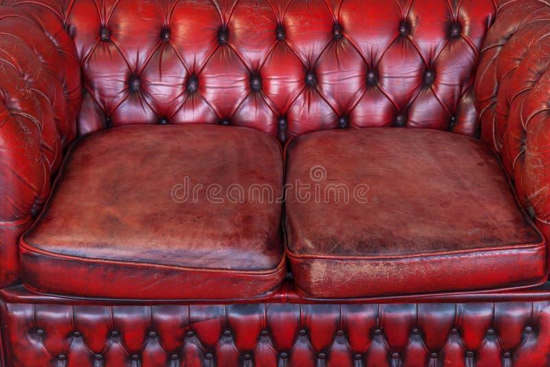 3 d podobieństwo wewnętrznej czerwona skórzana sofa fotografia stock