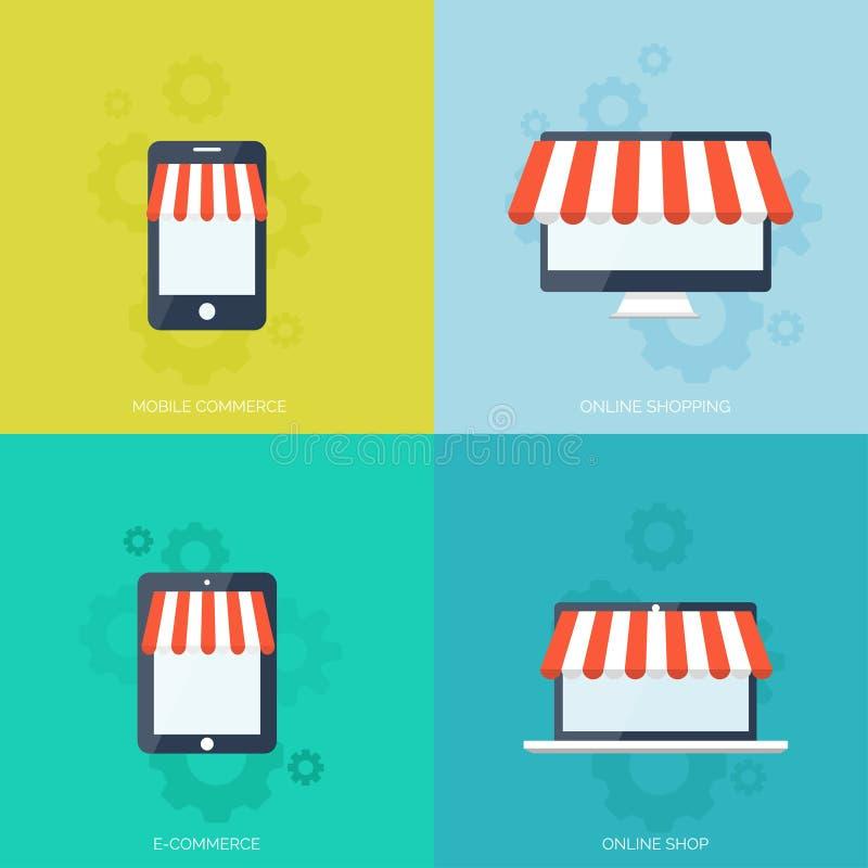 3d pojęcie internety odpłacają się zakupy handel elektroniczny Online sklep Sieci zapłaty i pieniądze na stuknięcia wynagrodzenie ilustracji