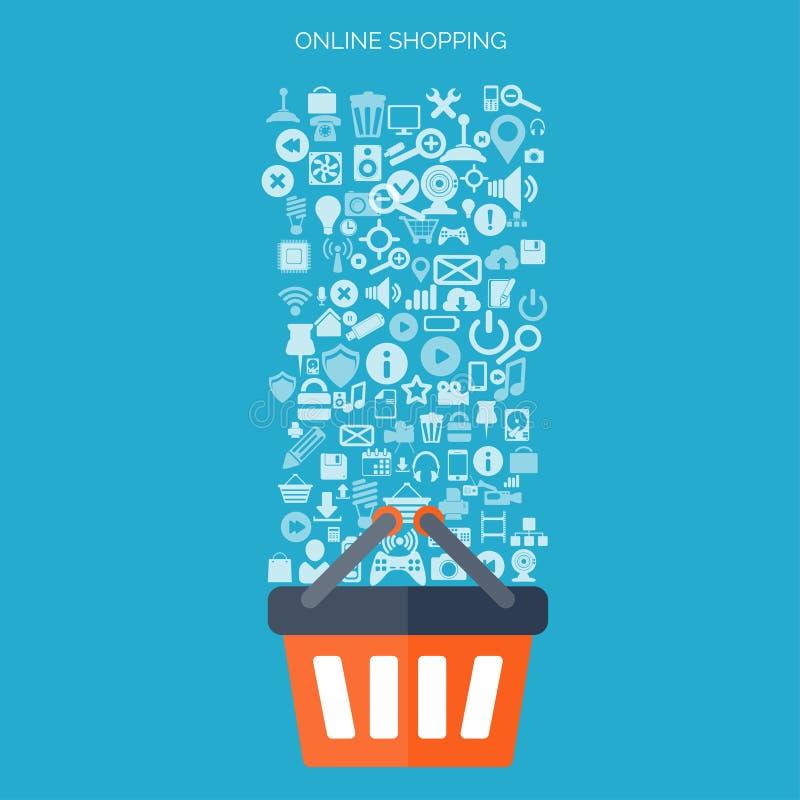 3d pojęcie internety odpłacają się zakupy handel elektroniczny Online sklep Sieci zapłaty i pieniądze na stuknięcia wynagrodzenie royalty ilustracja