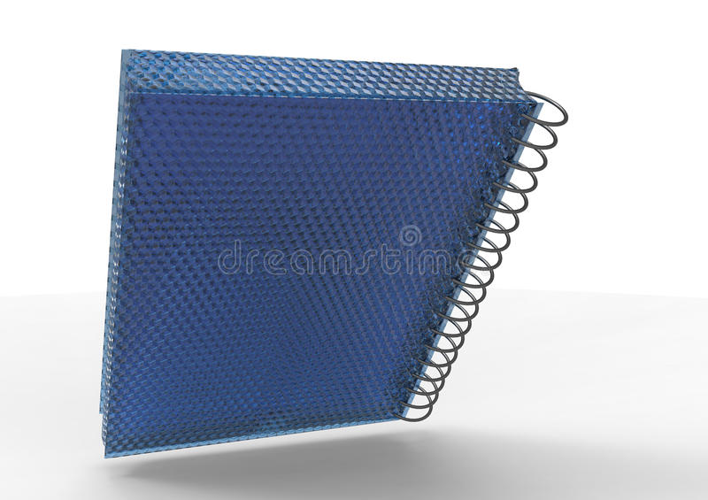 3D pokrywy notatnik royalty ilustracja