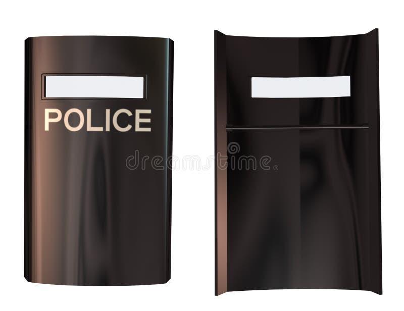 3d policja Osłania ilustracja wektor