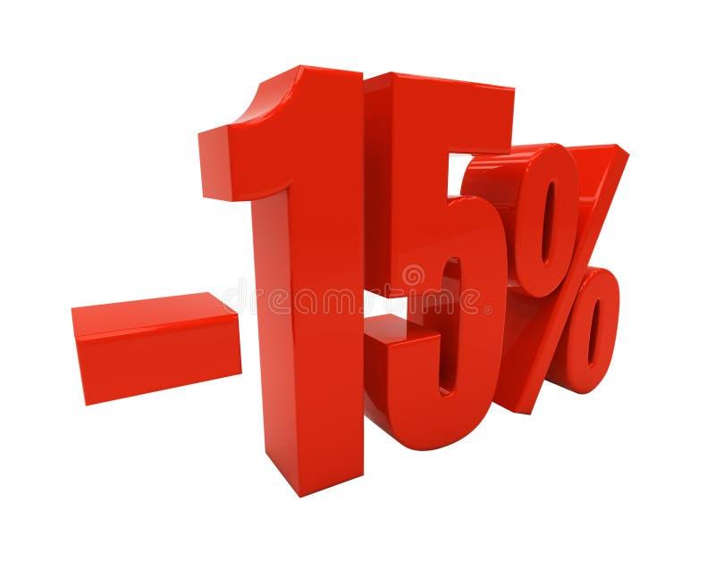 3D 15 por cento ilustração do vetor