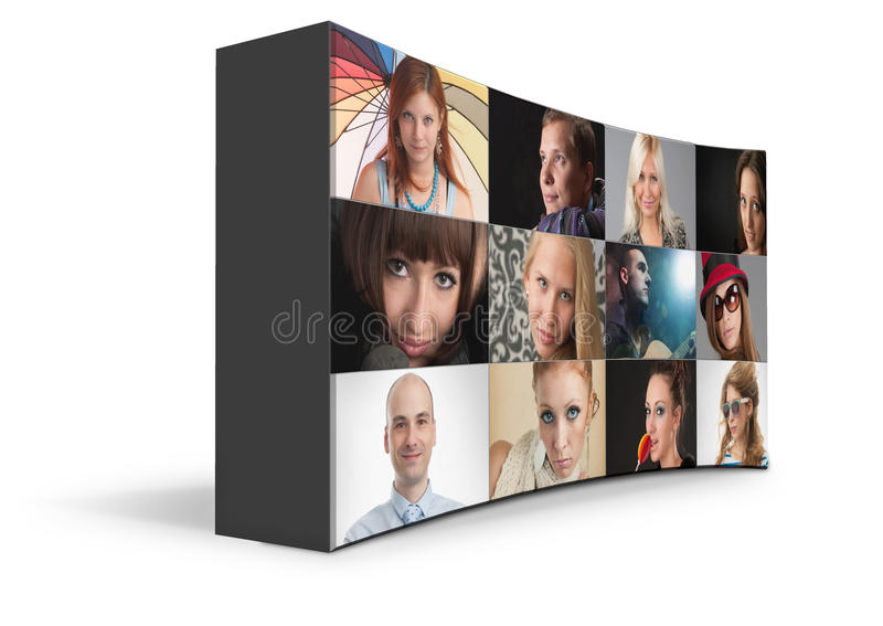 Download 3d Portraits stock illustration. Image of gallery, group - 31620704