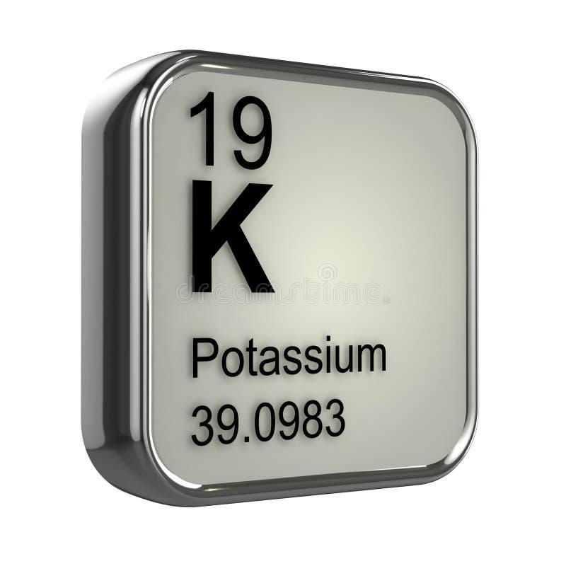 3d Potassium element stock illustration
