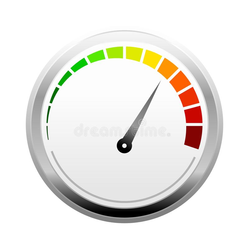 3D Power Pressure Meter Design vector illustration