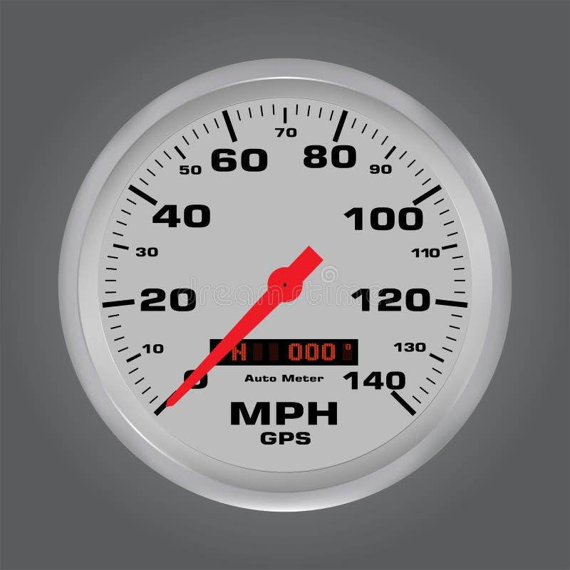 3d prędkości wymierniki z metal ramą royalty ilustracja
