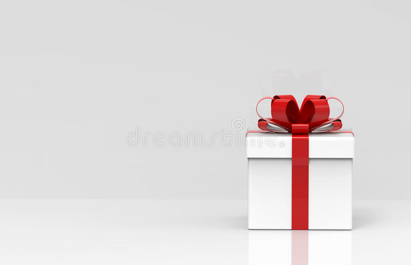 3d present box. The present box is modelled and rendered royalty free illustration
