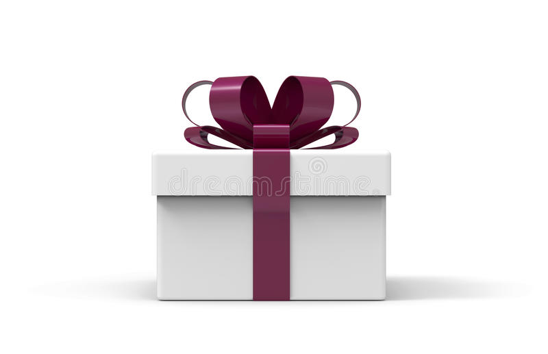 3d present box. The present box is modelled and rendered stock illustration