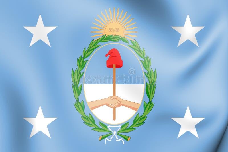 3D prezydencki standard Argentyna royalty ilustracja