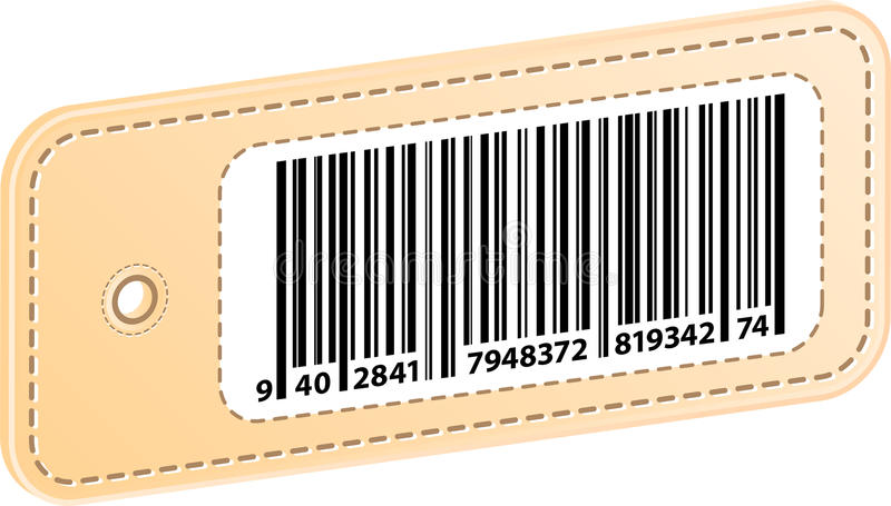3D Price Tag With Bar Code Label stock photo
