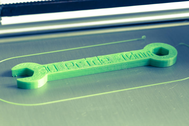 3d print with light green filament. Detail stock photo