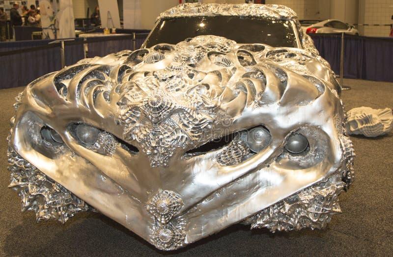 Javits Center Car Show >> 3D Printed Liquid Metal Car By Artist Ioan Florea On ...