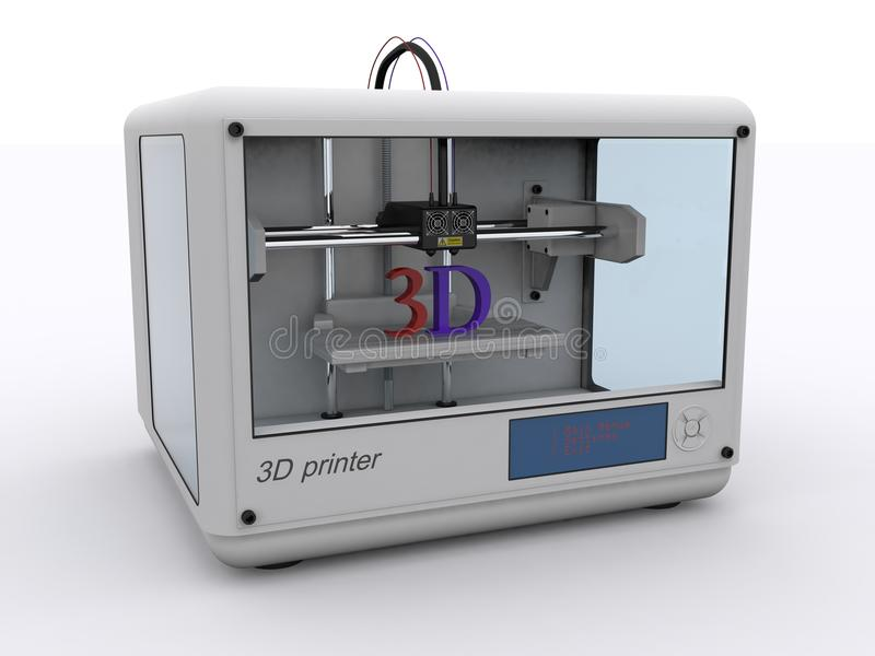 3D Printer stock illustratie