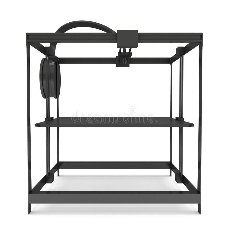 3D Printer Black royalty-vrije illustratie