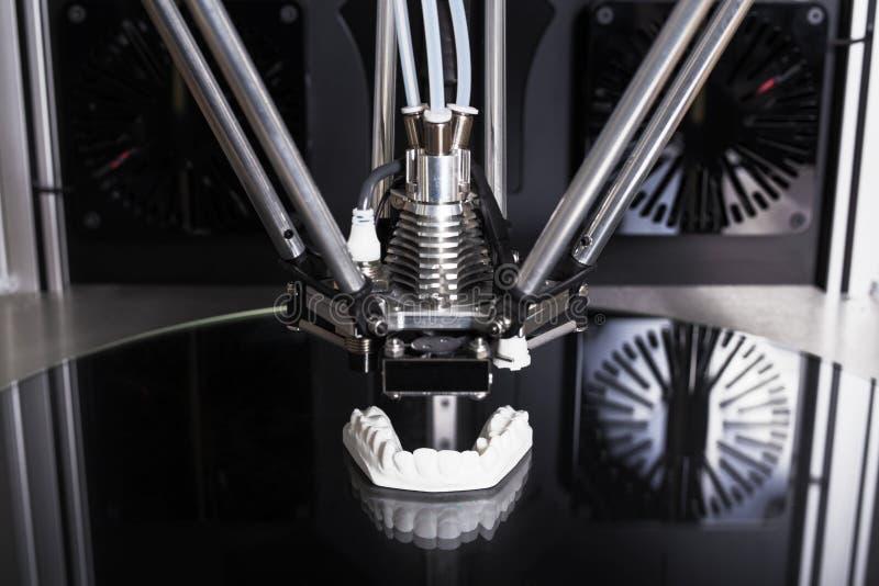 3d printer die een voorwerp drukken royalty-vrije illustratie