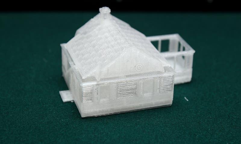 3D Printer - Drukmodel royalty-vrije stock afbeeldingen