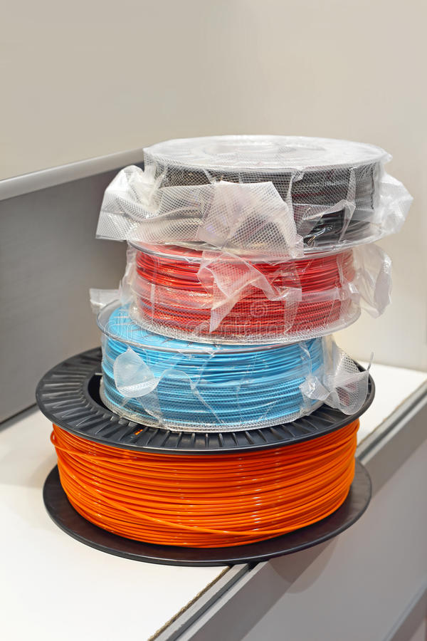 3d Printer Filament stock fotografie