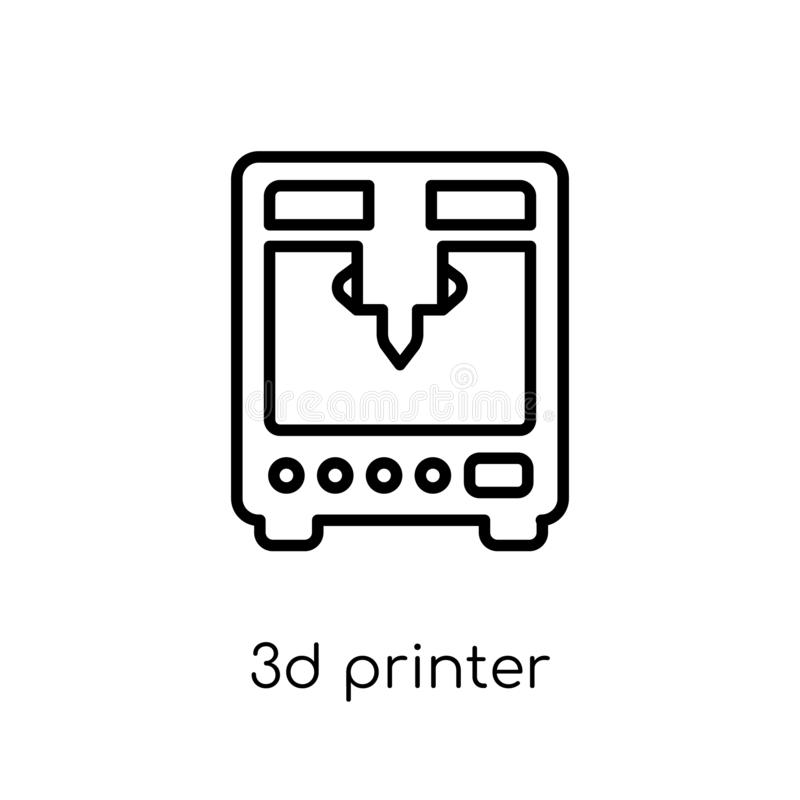 3d printer icon from Electronic devices collection. royalty free illustration