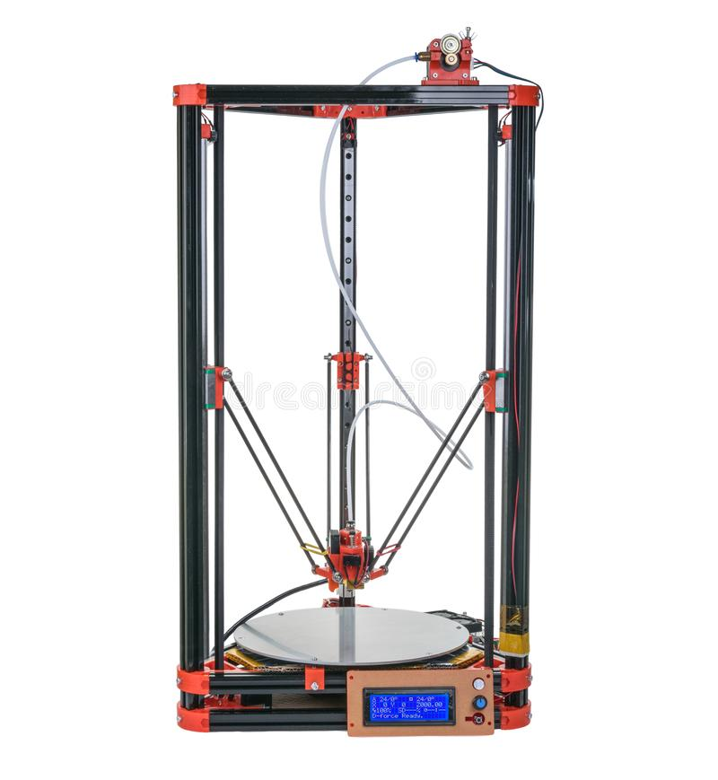 3d printer isolated without shadow royalty free stock image