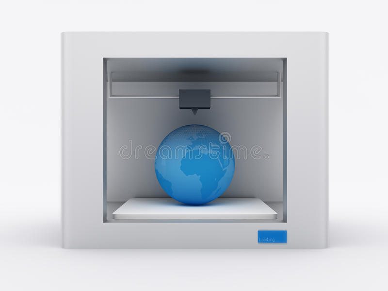 3d printer royalty free illustration