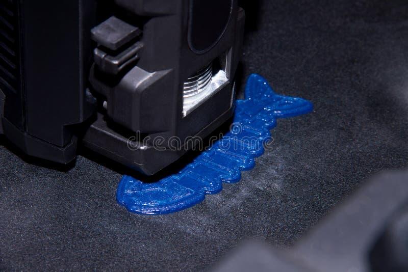 3D printer prints 3D form plastic royalty free stock photography