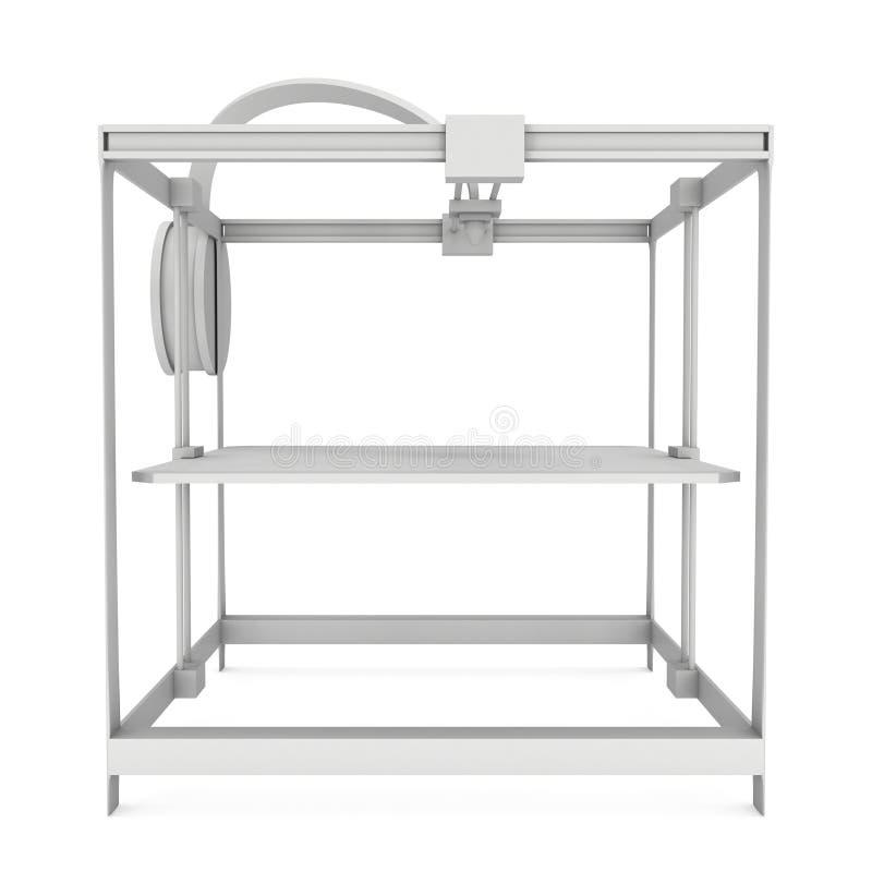 3D Printer White stock illustratie