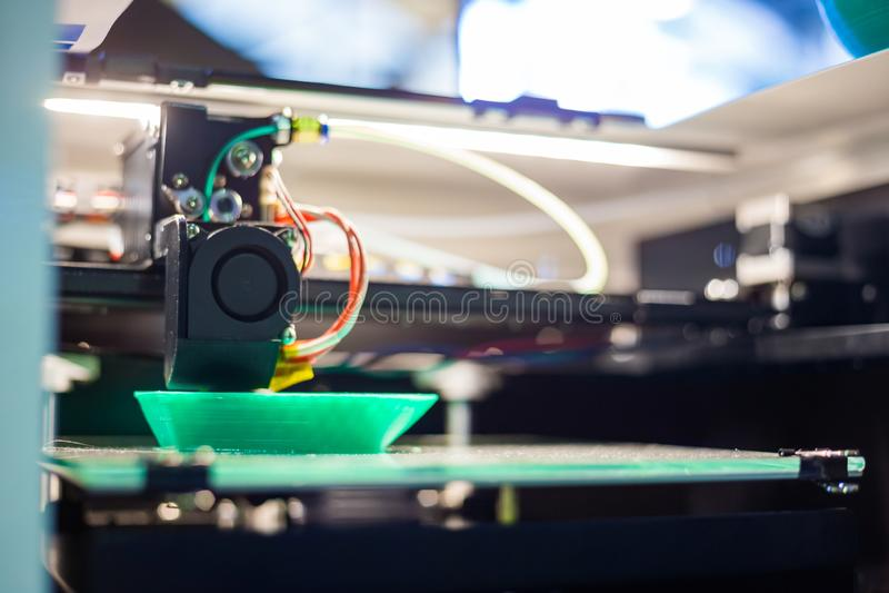3D printer during work stock photos