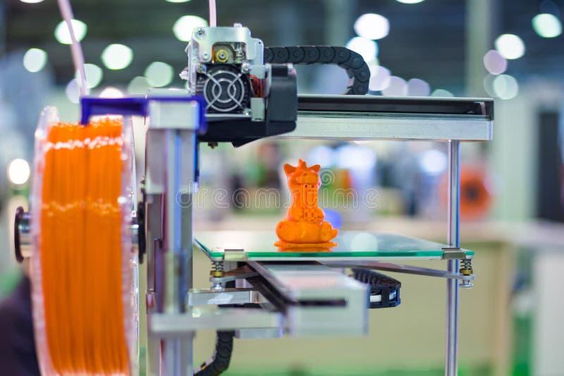 3D printer during work stock image