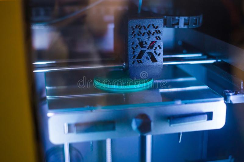 3D printer during work royalty free stock photography