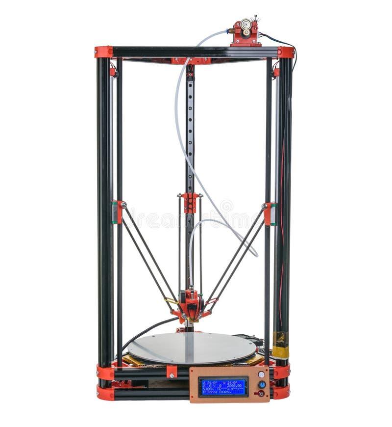 3d printer zonder schaduw wordt geïsoleerd die royalty-vrije stock afbeelding