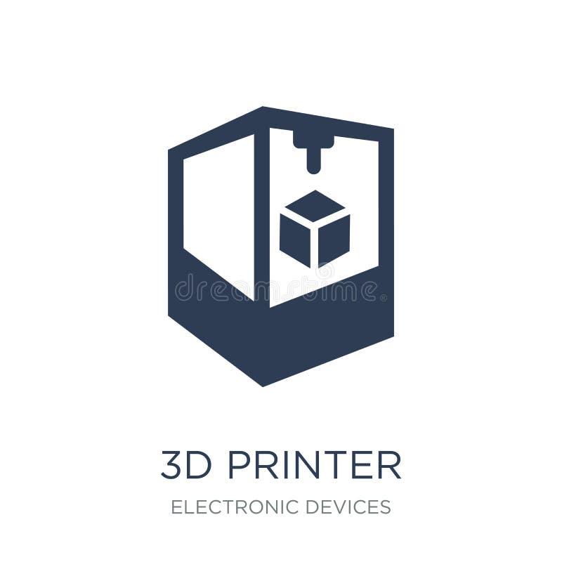 3D Printerpictogram  stock illustratie
