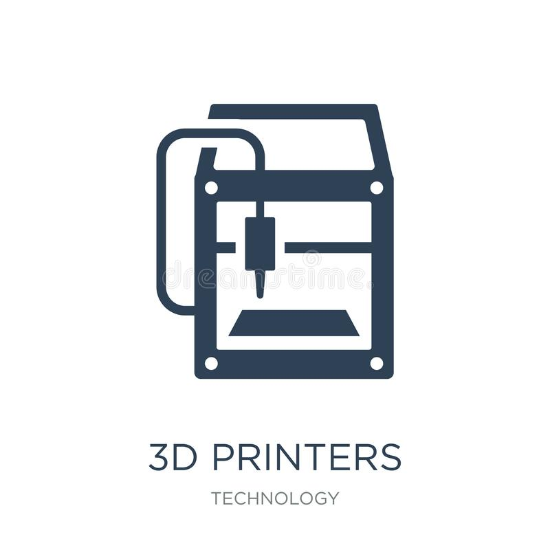 3d printers icon in trendy design style. 3d printers icon isolated on white background. 3d printers vector icon simple and modern. Flat symbol for web site vector illustration