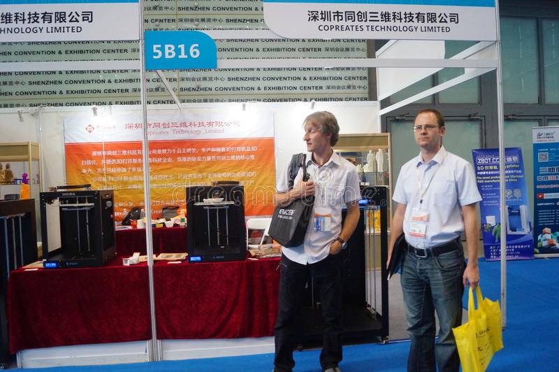 3D printing applications and facilities and Equipment Exhibition. Exhibition center in Shenzhen, the twentieth IIC-China Electronic Engineering event stock photos
