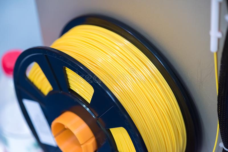 3D printing filaments stock images