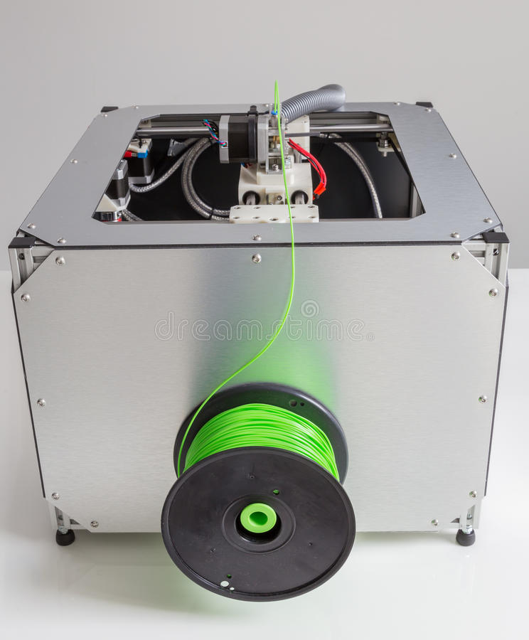 3d printing with light green filament.  royalty free stock images