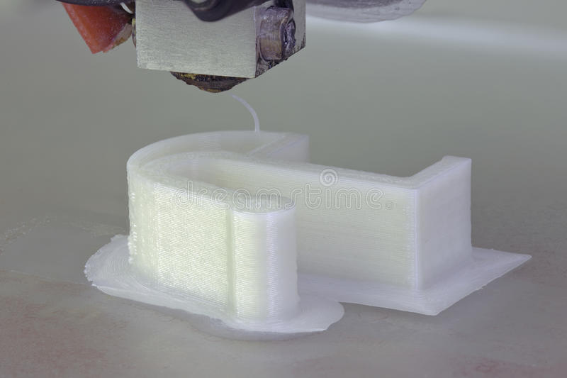 3D Printing. The Plastic Vibration Damper royalty free stock images