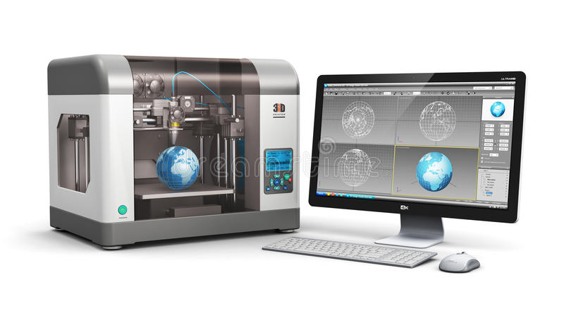 Download 3D printing technology stock illustration. Illustration of communication - 44364194