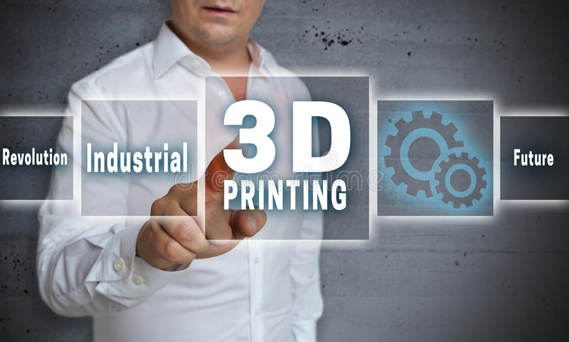 3d printing touchscreen concept background.  royalty free stock images