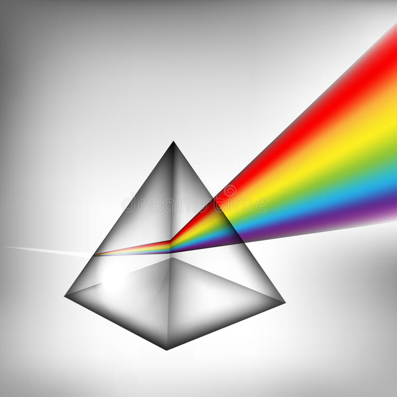 3d prism with light vector illustration